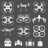 Drone footage emblems Stock Photography