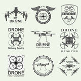 Drone footage emblems Stock Images