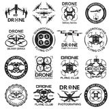 Drone footage emblems Stock Photo