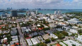Drone footage Miami stock footage