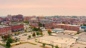 Drone footage of Portland, Maine stock footage