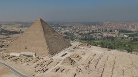 Drone footage of Pyramids of Giza Cairo, Egypt