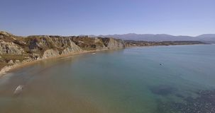 Drone footage of Xi beach in Kefalonia stock footage