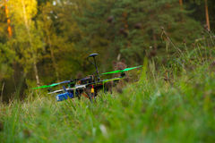 Drone on green grass Royalty Free Stock Images