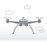 Drone grey silhouette - stock . Stock Images
