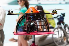 Drone helicopter Stock Image