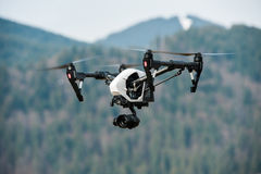 Drone with high resolution digital camera Stock Image