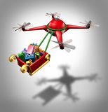 Drone Holiday Delivery Royalty Free Stock Image