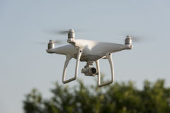 Drone Hovering over garden Royalty Free Stock Photography