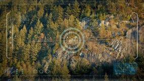 Drone HUD POV Passing Wild Sunny Cliffs