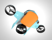 Drone with hybrid mode which can lift up vertically and flying like normal airplane. Stock Photos