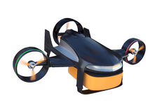 Drone with hybrid mode which can lift up vertically and flying like normal airplane. Royalty Free Stock Photos