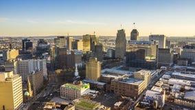Drone hyperlapse footage of Newark, New Jersey stock video footage