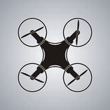 Drone icon black logo element top view vector Royalty Free Stock Photography