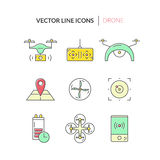 Drone Icon Collection Stock Image