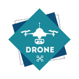 Drone icon design Royalty Free Stock Image