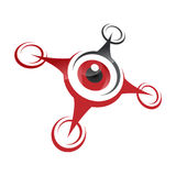 Drone icon, quadrocopter. Stylized vector symbol Stock Photography