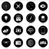 Drone Icons. Quadcopter / Drone set of Icons Stock Photos