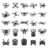 Drone icons set, simple style royalty free illustration
