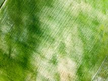 Drone image. aerial view of empty cultivated fields. Spring day. latvia royalty free stock images