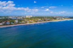 Drone image Boynton Beach FL USA. Aerials Boynton Beach FL USA shot with a drone offshore Atlantic Ocean sea coast Royalty Free Stock Image
