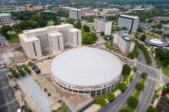 Aerial image Nashville Musicians Hall of Fame and Museum. Drone image Nashville Musicians Hall of Fame and Museum Tennessee USA stock photo