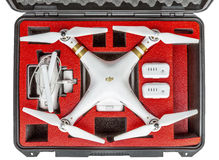 Free Drone In Waterpoof Case Stock Images - 68081644