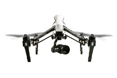 Drone isolated on white background Royalty Free Stock Photography
