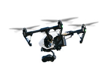 Drone isolated on white background Stock Image