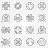 Drone labels or badges Stock Photo