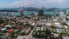 Drone Miami. Aerial video of Miami Beach stock video footage