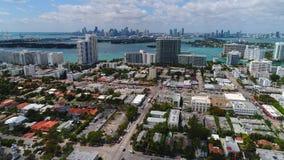 Drone Miami stock video footage