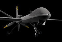 Drone. Military drone over black background royalty free illustration