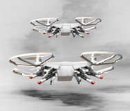 Drone with missiles. Royalty Free Stock Images