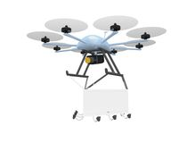 Drone mobile advertising Stock Image