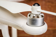 Drone motor and propeller Royalty Free Stock Photo