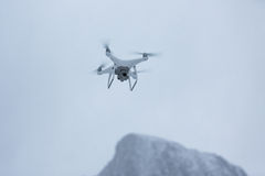Drone in mountains royalty free stock images