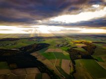 Drone Nature Germany Sunset Colors stock photography