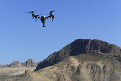 Drone over the mountain Stock Image