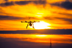 Free Drone Over The Village At Cloudy Sunset Stock Image - 52432871