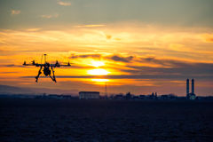 Free Drone Over The Village At Cloudy Sunset Royalty Free Stock Photo - 52432895