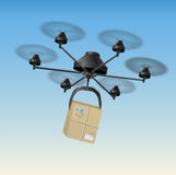 Drone Parcel Stock Image