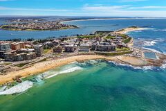 Drone Photo of Newcastle Beach,  Newcastle NSW Australia