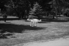 Drone prepared to fly Stock Photo