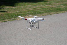 Drone preparing to fly over the city Royalty Free Stock Photo