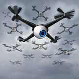 Drone Privacy Issues vector illustration