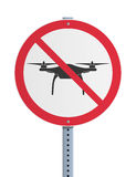 Drone prohibited Stock Image