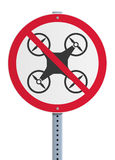 Drone prohibited Royalty Free Stock Image