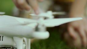 Drone propellers twist stock footage