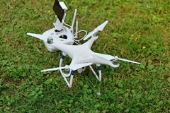 Drone quad copter with digital camera Stock Image